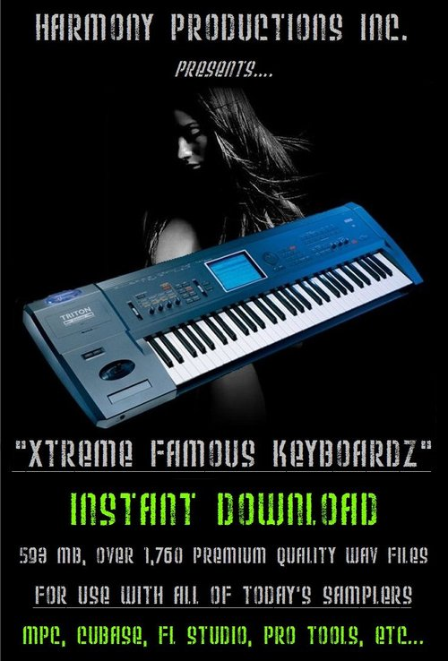 Product picture Xtreme Famous Keyboard Samples R&B/Hip Hop Production.